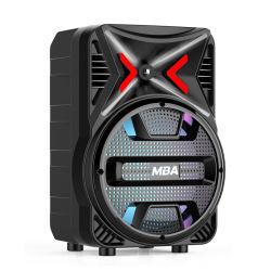 Promoção de 8 polegadas de som do Sistema de Altifalantes móveis de Karaoke com luz LED de discoteca e Wireless Bluetooth