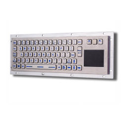 معلومات الكمبيوتر الصناعي لوحة مفاتيح Kiosk معدنية مزودة بلوحة لمس