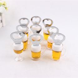 Bicchiere di birra in metallo Frigo apribottiglie a magnete Apribottiglie personalizzato a forma di bicchiere