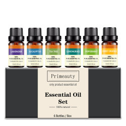 개인 100% 레테르를 붙이기 순수한 치료 급료 선물 고정되는 유칼리나무 박하 레몬그래스 레몬 차 나무 로즈 유포자 방향 Aromatherapy 정유