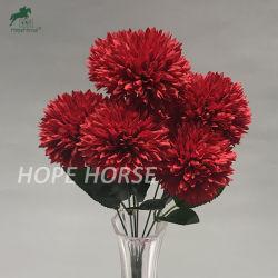 Comercio al por mayor de Flores Artificiales Flores artificiales de la boda de bolas de color verde para la decoración del hogar falso flores al aire libre