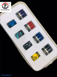 Venda a quente e cigarros Vape descartáveis Acessórios Ponta de pingos atomizador 810 Bocal de resina Caixa de oferta