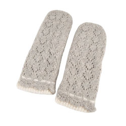 Luvas térmicas Fingerless mangas luvas crochet Winter Knit Luvas de pulso para mulher e menina