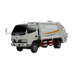 Dongfeng 6cbm 6 toneladas de carga traseira Saneamento lixo de compressão recolhem Compactador caminhão de lixo