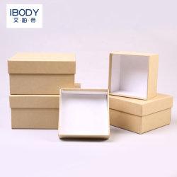 Caliente de Venta Directa de Fábrica de Tapa y base cuadrada de verificación, las dos piezas de papel Caja de regalo, la Plaza de gama alta de la plaza de monedero Caja rígida