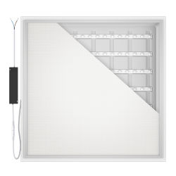 130lm/W 36W/40W/48W 600X600 1200X300 2X2FT 2X4FT interiores empotrada LED retroiluminada de iluminación luz del panel de techo