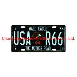 El águila calva signos de estaño de la placa de licencia para la decoración del hogar