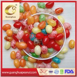 Delicioso sabor a fruta dulce colorido Jommy Jelly Bean con caramelo blando