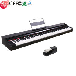 Портативный 88 клавиш электрический стандартной клавиатуры сенсорного экрана Китая MIDI цифровых фортепиано