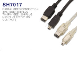 Câble Firewire IEEE1394 4 broches vers 6 broches