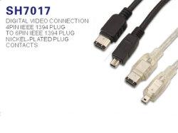 Кабель Firewire IEEE1394 4 контакт 6 контакт (SH7017)