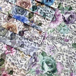 Poly de haute qualité de l'impression numérique en 3D de velours Beau design avec Fleuret Home Textile tissu d'ameublement pour Meubles Vêtement