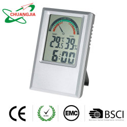 Jauge de température de l'humidité avec Bureau des horloges pour la chambre et le bureau de vente en gros