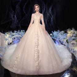 Hwd014 2021 New Bride Super Fairy Dream Big Code Wedding 여자 신부 티크톡의 화려한 마무리 신부 가운을 입고 옷을 입어보세요