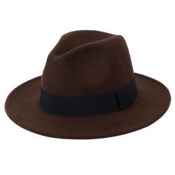 فصل خريف ذكريّة حزب مأدبة صوفيّة لباد غطاء شهم رجال زرقاء صوف [فدورا] قبعة