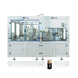 Aluminio automático Pet puede CSD suaves carbonatadas cerveza Energy Drink té zumo caliente leche café envasado de conservas de limitación de sellado de llenado de la máquina de embalaje
