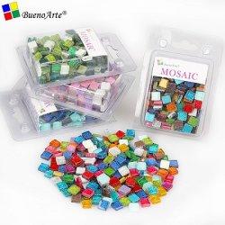 1см смешайте цвет квадратные Блестящие цветные лаки мозаика Tesserae Crystal Mosaic плиткой и мозаикой DIY Craft хобби искусства поставщиком материалов