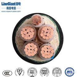4+1 Bescherming van de Kabel en van de Draad van de Kabel van de Macht van de Draad van de Elektriciteit Unarmoured van de kern de XLPE Geïsoleerdee pvc In de schede gestoken (zc-YJV)/