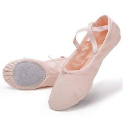 Zapatillas de Ballet de zapatos de baile de lienzo para las niñas de la Gimnasia Yoga pisos Infante/Little/Big Kid/Mujeres