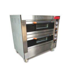 부엌 체더링 장비 크라운 2 갑판 4trays 음식 빵 빵집 장비 상업적인 대류 전기 피자 굽기 오븐