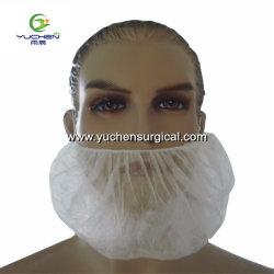 Face à l'industrie alimentaire Guard masque non tissé blanc Spit capot Capot Barbe Barbe Net disponible