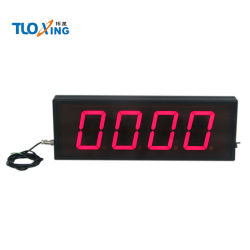 LED de 4 dígitos de 4 Polegadas Contador digital pode obter sinais do sensor de contagem crescente Exibir contador industriais