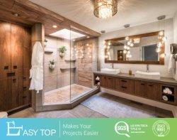 Het duurzame MDF van de Installatie van de Luxe Eenvoudige Houten Kabinet van de Ijdelheid van de Badkamers van de Melamine