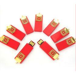 Beste Verkopende OEM van de Gift van het Embleem van de Aandrijving van de Flits van de Stijl USB van het Metaal Chinese 64gu Schijf Aangepaste BedrijfsGift Ruyi 32g