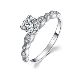 Bijoux de zircone cubique 925 Silver Ring Hot vente de bijoux en gros de bijoux femme bagues Accessoris