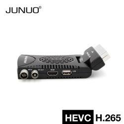 完全なHDのセットトップボックスDVB-Tデジタルの地球受信機小型Scart H. 265 DVB-T2
