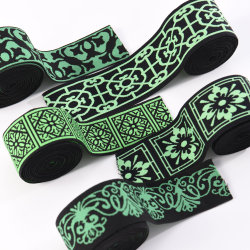 De zwarte Groene Broeksband van het Ondergoed van de Jacquard Customzied Elastische