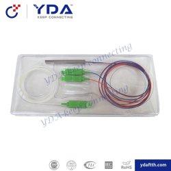 1X2 Sc APCのコネクターが付いている小型ステンレス鋼の管のタイプPLC CWDM/Wdmの光学ディバイダー