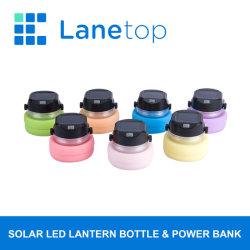 Batería recargable Linterna de camping con cargador portátil y la botella de agua