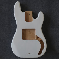 Cheap White/Black Bass Guitar inconclusa cuerpo