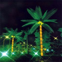 Cocoteros tropicales artificiales plantar árboles con hojas y frutos de coco plantas sintéticas