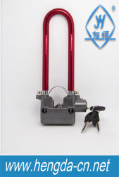 Электрический сигнал тревоги на велосипеде П-образной формы для навесного замка блокировки вставьте фиксатор (YH1258)