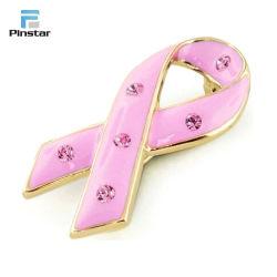 الشريط الوردي الوعي بسرطان الثدي دبوس