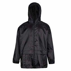 男女兼用の子供の男の子の女の子のフード付き防水明白なレインコートのジャケット