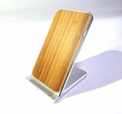 Shenzhen direto de fábrica venda por grosso de madeira do carregador sem fio para o telefone celular