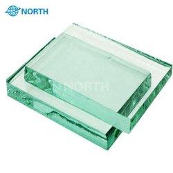 Courbe, de forme plate+1.1410mm PVB+10mm Stratifiés en verre trempé