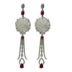 女性の中国の古典的な様式の特別な方法宝石類のためのイヤリングの宝石類