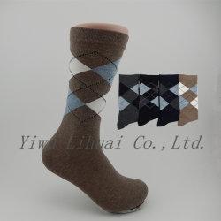 Partido de los hombres de Argyle colorido de la tripulación de algodón de la marca de calcetines calcetines de negocios