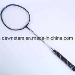 Pleine professionnel de haute qualité en fibre de carbone, graphite Raquette Badminton raquette