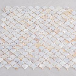 L'échelle de poissons dosseret de cuisine design Sea Shell mosaïque