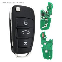 حافظة مفاتيح للسيارة الذكية ذات 3 أزرار بسرعة 315 ميجاهرتز 433 ميجاهرتز A6l من نوع Audi مفتاح A3 عن بُعد