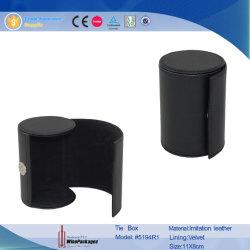 Ronda de couro Black Tie/Gravata Box caixa de exibição (5194)