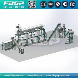 prensa de pellet de madera automático de la línea de producción de maquinaria de biomasa
