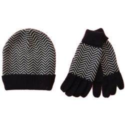 Los hombres de moda cálida en invierno la renuncia de guante de Jacquard Hat establece