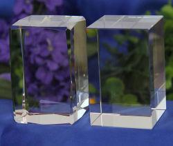 원색판화를 위한 투명한 K9 수정같은 구획 3D Laser에 의하여 새겨지는 수정같은 입방체