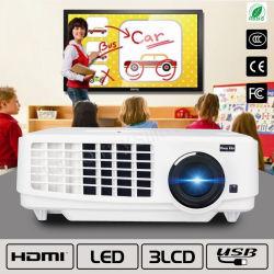 가득 차있는 HD 높은 Brightness& 학교 사업 다중 매체 LED 영사기를 가진 가장 새로운 영사기